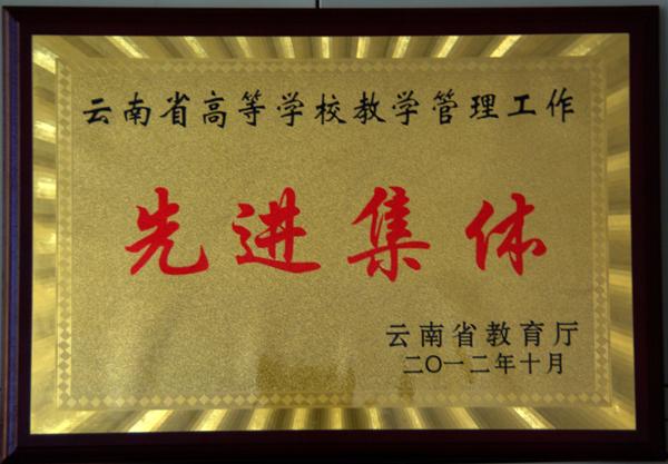 云南省高等学校教学管理工作先进集体