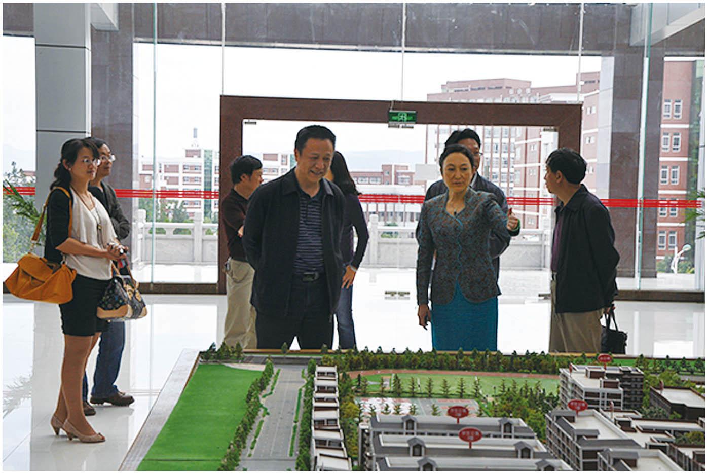 2013年5月7日,云南省教育厅职成教处处长段剑新一行莅临学院指导工作