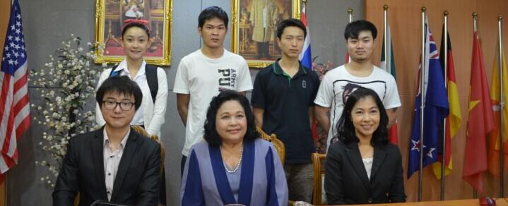 国际学院肖东老师拜访泰国东方大学纪实
