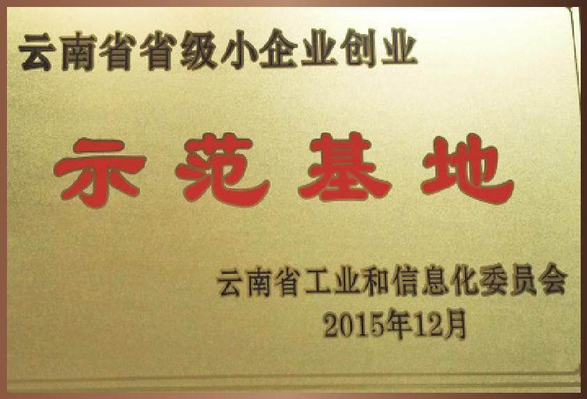 云南省省级小企业创业示范基地
