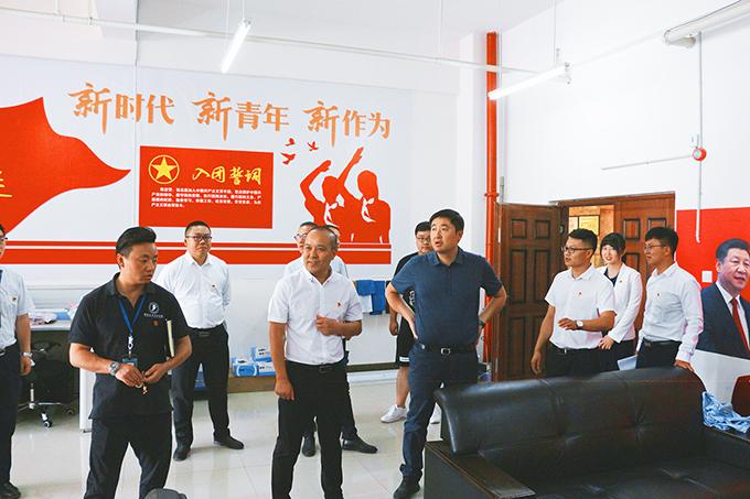 2019年5月21日,团省委唐源书记一行莅临我校参观