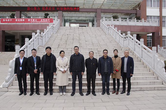 2019年12月12日,安宁市委书记张勤勋参观学校
